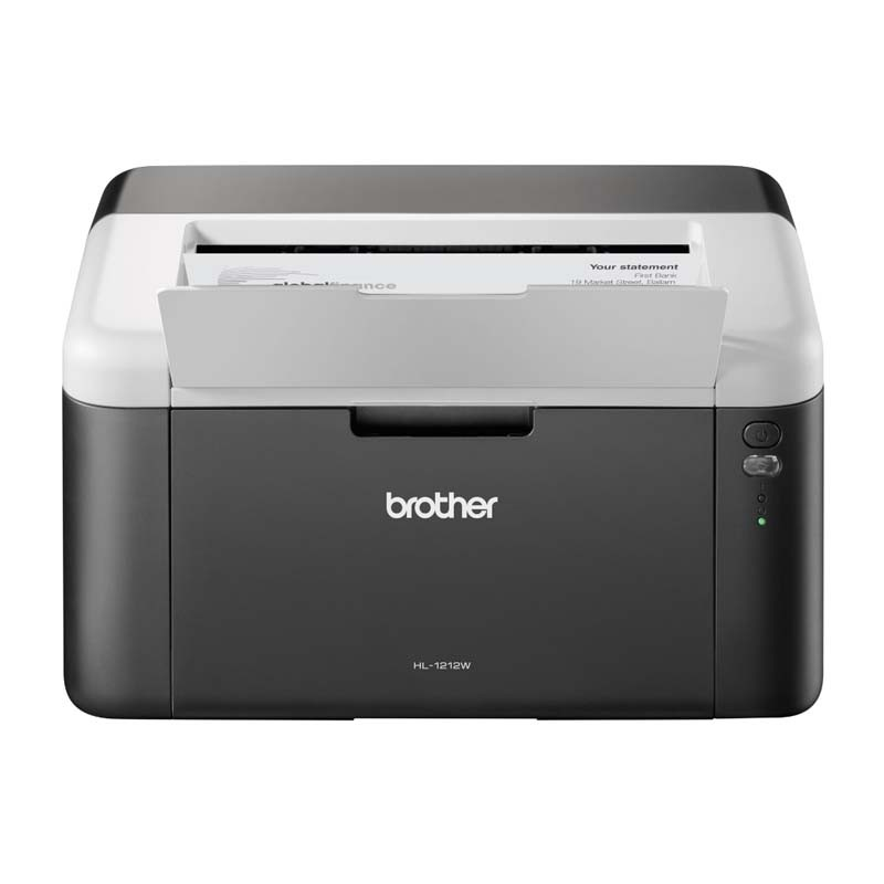 Impressora BROTHER HL1212W, LASER Monocromática,  21PPM, 600 dpi, Ciclo Mensal de 10.000 páginas, Wireless, USB 2.0 - HL1212W