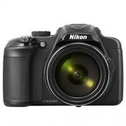 Câmera Digital Nikon Coolpix P600 + SD 16GB - 16.1MP, Sensor CMOS,  Zoom Óptico 60x, Vídeos Full HD, 7 FPS, Wi-Fi, Tela Rotativa de 3´