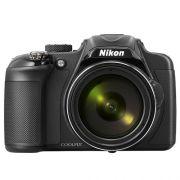 "Câmera Digital Nikon Coolpix P600 - 16.1MP, Sensor CMOS,  Zoom Óptico 60x, Vídeos Full HD, 7 FPS, Wi-Fi, Tela Rotativa de 3"""