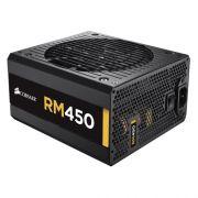 Fonte Corsair 450W Real Gold Full - RM450 80 Plus - Modular, PFC Ativo, Sensor Térmico