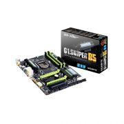 Placa Mãe Intel Gigabyte G1 Sniper B5 - DDR3, Dual Networking, Dual Channel, Multi-GPU, Frequência até 1.600MHz, PCI Express x16
