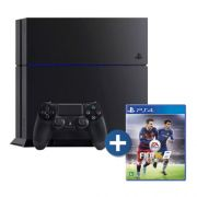 Console Playstation 4 + FIFA 16 - HD 500GB, chip 8 núcleos, 8GB GDDR5, Controle Dualshock 4 - PS4  (1215A)