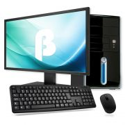 """Computador Intel Core i3 - 3.7GHz (6ª Geração), 8GB de Memória, HD de 500GB, HDMI, Gabinete ATX + Monitor LED de 18.5"""", Teclado e Mouse *"""
