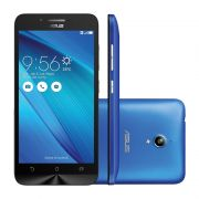 "Smartphone Asus ZenFone Go com 16GB, Dual Chip, 3G, Câmera de 8MP, Processador Quad Core, Tela HD de 5"" - ZC500TG, Azul"