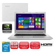 "Notebook Lenovo Z40-70 - Intel Core i7, 8GB de Memória, HD de 1TB, Placa de Vídeo GeForce 2GB, Bluetooth, Tela LED Full HD de 14"" Windows 10 (seminovo)"