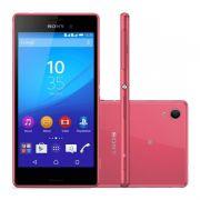 """Smartphone Sony Xperia M4 Aqua com 16GB, Dual chip, Câmera de 13.0 MP, 4G, Processador Octa Core, Resistênte à água e poeira, NFC , Tela de 5.0"""" - E-2333, Rosa"""