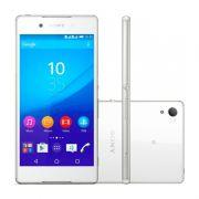 """Smartphone Sony Xperia Z3+ com 32GB, Dual chip, Câmera de 27.0 MP, Vídeos em 4K, 4G, Processador Octa Core, Resistênte à água e poeira, NFC , Tela de 5.2"""" - E-6533, Branco"""