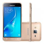 """Smartphone Samsung Galaxy J3 2016 Duos com 8G, Dual Chip, 4G, Selfie 5.0 MP, Reprodução em HD, Tela Super AMOLED 5.0"""" - J320M, Dourado *"""