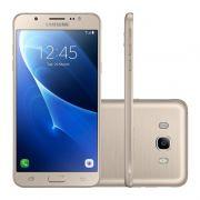 """Smartphone Samsung Galaxy J7 Metal de 16GB, Octa Core, 4G, Câmera de 13MP, Flash LED, Dual Chip, Tela Super AMOLED de 5.5"""" - SM-J710 Duos - Dourado *"""