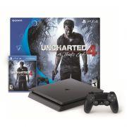 Console Playstation 4 Slim Edição Especial Uncharted 4 - HD 500GB, Processador Octa-Core, Controle Dualshock 4 + Jogo Uncharted 4 - PS4