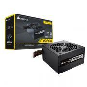 Fonte Corsair VS600 ATX 600W - 80PLUS, PFC Ativo, Bivolt