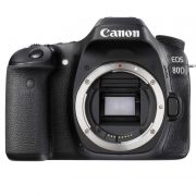 "Câmera Digital Canon Rebel EOS-80D (Só Corpo) - 24.2MP, Dual Pixel CMOS, DIGIC 6, Frames 7 fps, Wifi/NFC, Vídeo Full HD, Tela Rotativa 3"" *"
