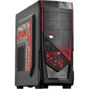 Computador GAMER JAVA FX8320  com Processador Octa core, 8GB de memória, HD 1TB SATA 3, Fonte de 500W Real -  Preto/Vermelho