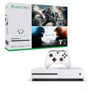 Console Xbox One S 500GB + Gears Of War 4 E Halo 5 c/ 2 Controles Wireless
