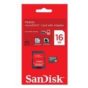 Cartão de Memória SanDisk - 16GB *