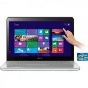 Notebook Sony Vaio SVF14 (Core i7 (3ª Geração), Memória 6GB, HD 750GB, Placa de Vídeo GEFORCE GT735 1GB, Tela LED 14 Touchscreen, Windows 8)