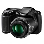 Câmera Digital Nikon Coolpix L320 + SD 16GB - 16 .1 MP, Sensor CCD,  Zoom Óptico 26x, Estabilizador de Imagem VR, Vídeo HD, Tela de 3´