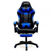 Cadeira Gamer PCTop  Racer 1006 PG Azul e preto com Descanso de Pé