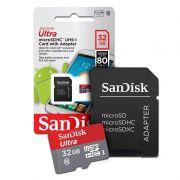 Cartão de memória SanDisk Ultra - 32GB, SDHC, Classe 10