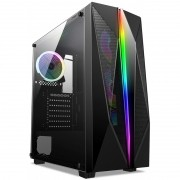 Computador Gamer - AMD Ryzen 5600X, Memória 16GB 3000MHz, SSD 480GB, Radeon RX5500 XT 8GB, Fonte 600W 80-Plus