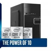 Computador Home Office Intel Core i3 10ª Geração 10100, SSD 120GB + HD 500GB, 8GB DDR4, Gabinete ATX