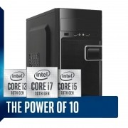Computador Home Office Intel Core i3 10ª Geração 10100, SSD 240GB, 8GB DDR4, Gabinete ATX