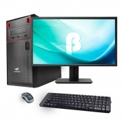 Computador Office Standard -  Intel Quad Core 2GHz, Memória de 4GB, HD 320GB, Gabinete ATX + Monitor 18.5
