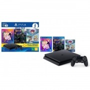 Console Sony PlayStation 4 1TB Mega Pack 11 com Just Dance 2020, Medievil, Knowledge is Power + Frantics + That's You! - Bundle PS4 CUH-2214B