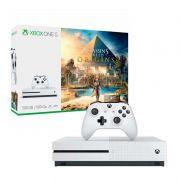 Console Xbox One S 500GB + Assassin's Creed: Origin - 4k, Controle Wireless