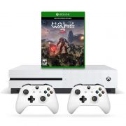 Console Xbox One S 1TB + Halo Wars 2  c/ 2 Controles Wireless, 4k