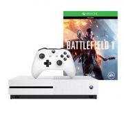 Console Xbox One S 500GB + Battlefield 1 - 4k, Controle Wireless - Branco, Slim