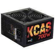 Fonte Aerocool ATX KCAS 700W Real - 80 Plus Bronze, PFC Ativo