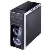 Gabinete Gamer PCYes Tank - Preto com LED Branco, 3 Fans