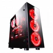 Gabinete Gamer Redragon SideWipe RGB GC-601 Mid Tower, Vidro temperado