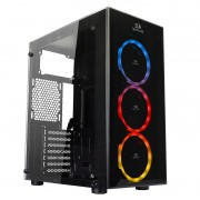 Gabinete Gamer Redragon Thunder Cracker RGB GC-605 Mid Tower, Vidro temperado