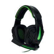 Headset Gamer Gamemax HG8657 - USB + P2 - Preto com verde