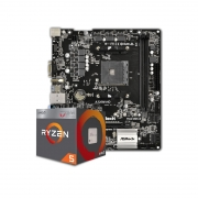 Kit Upgrade PC AMD Ryzen 5 2400G + Placa Mãe ASRock A320