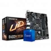 Kit Upgrade PC Intel Core i5-11400 11ª Ger. + Placa Mãe Gigabyte B460