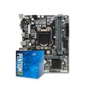 Kit Upgrade PC Intel Core Pentium G6400 + PLACA MÃE PCWARE H410