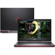 Notebook Dell Inspiron 15 Gaming - Intel Core i7 de 7ª geração, 16GB de memória, HD de 1TB, SSD 256GB, GeForce GTX 1050TI de 4GB, Tela Full HD de 15.6