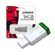 Pendrive DataTraveler 50 Kingston - 16GB, USB 3.1 - Verde, Metálico