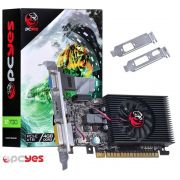 Placa de vídeo PCYes Nvidia GeForce GT 730 - 4GB, Low Profile, DDR3, 128 Bits, PCI-E 2.0