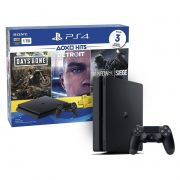Playstation 4 Slim 1TB Edição Especial com 3 Jogos: Days Gone / Detroit / Rainbow Six - PS4 Slim Bundle