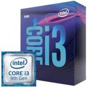 PROCESSADOR INTEL CORE I3-9100F, 4-CORE, 4-THREADS, 3.6GHZ (4.2GHZ TURBO), CACHE 6MB, LGA1151, BX80684I39100F