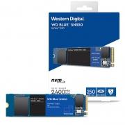 SSD 250GB M.2 NVMe WD Blue SN550 - 2400MBs/950MBs - M2 2280 WDS250G2B0C