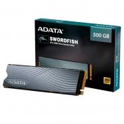 SSD 500GB M.2 NVMe Adata Swordfish - 1800MBs/1200MBs - M2 2280 ASWORDFISH-500G-C