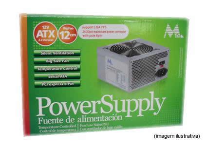 Fonte Mtek 650W ATX Versão 2.2 -24 Pinos - big cooler controle de temperatura *