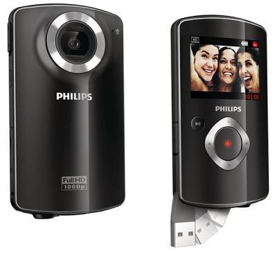 Filmadora Philips CAM102 - 5MP, Sensor CMOS, Video Full HD,  USB , HDMI, Tela de 2´ *