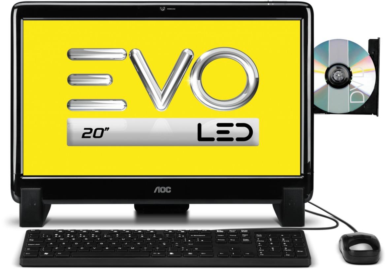 Computador ALL IN ONE AOC -  Processador Dual Core , Memória  de 2GB, HD 500GB, Tela LED 19.5