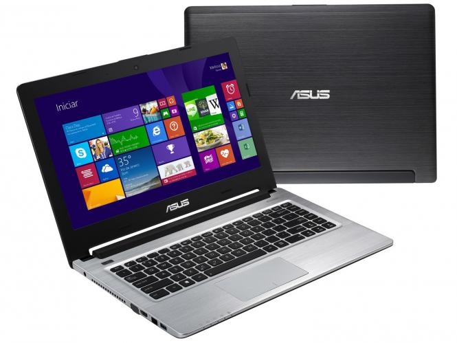 Notebook Ultrabook ASUS S46CB - Intel Core I7, Mem. 6GB, HD 1TB + SSD 24GB, Geforce Nvidia 2GB, Tela Led 14´ Windows  (showroom)